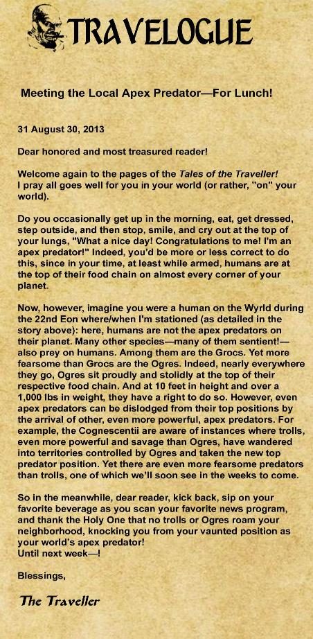 The Born Again Wizard and the Ogress Dancing Queen Page 4 Travelogue