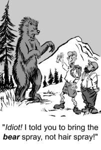 Bear Spray not hairspray