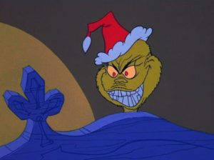 The frightening teeth of the Grinch